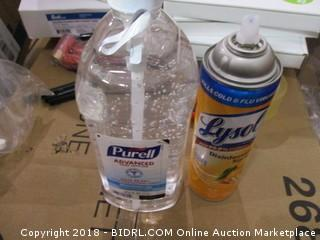 Purell Hand Sanitizer/Lysol Spray
