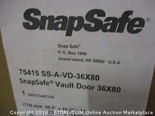 SNAPSAFE Aux Vault Door 36x80- Safe Room (Retail $1,200.00)