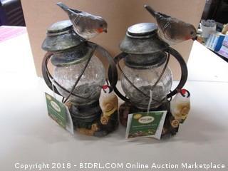 Solar Lantern with Birds