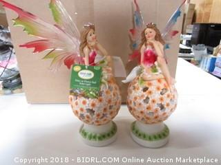 Fairy on Flower Ball Solar Lights
