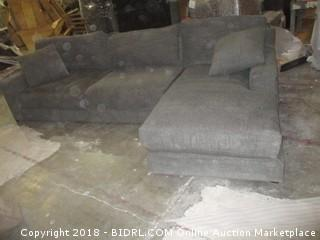 Sofa with chaise/ some damaged see pictures