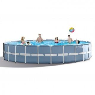 Intex 24ft X 52in Prism Frame Pool Set with Filter Pump, Ladder, Ground Cloth & Pool Cover (Retail $679.00)
