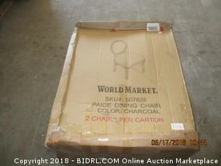 2 World Market Dining Chairs