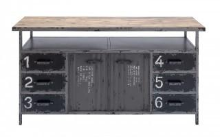 Deco 79 Metal Wood Cabinet, 56 by 30-Inch (Retail $479.00)
