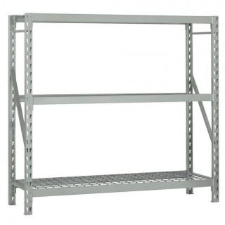 "Edsal ERX721872S Heavy Duty Steel Welded Frame 3 Level Starter Bulk Storage Rack with NSF Zinc Plated Wire Decking, 1500 lbs Capacity, 72"" Width x 72"" Height x 18"" Depth, Silver (Retail $245.00)"