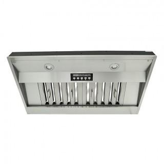 "KOBE IN2636SQB-650-5 Deluxe 36"" Built-In/ Insert Range Hood, 4-Speed, 700 CFM, LED Lights, Baffle Filters"