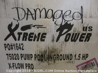 Stre4ne Power Pump Pool In Ground/ Damaged See Pictures