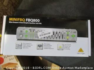 MiniFBQ Ultra-Compact 9-Band Graphic Equalizer with FBQ