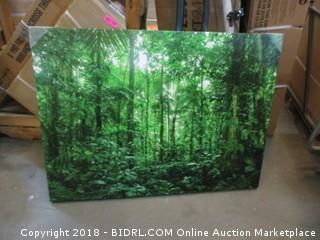 "JP London LCNV2360 Rainforest Woods Forest Trees 2"" Thick Heavyweight Stretched Canvas Art Mural, 46"" x 34"" (Retail $129.00)"