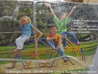 Easy Outdoor Space Dome Climber – Rust and UV Resistant Steel – 1000lb. Capacity – For Kids Ages 3 to 9 (Retail $190.00)