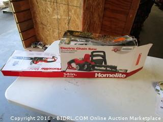 Homelite Electric Chain Saw  Powers On