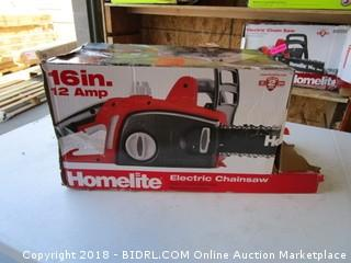 Homelite  Electric Chainsaw   Powers On