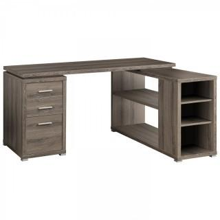Monarch Specialties Hollow-Core Left or Right Facing Corner Desk, Dark Taupe (Retail $299.00)