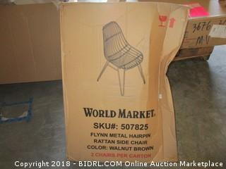 2 World Market Side Chairs