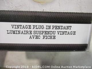 Vintage Plug In Pendant