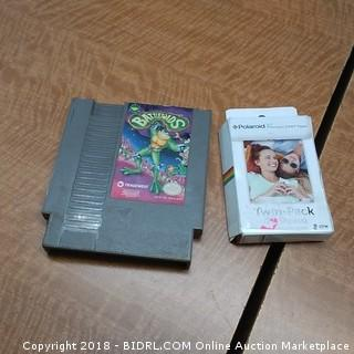 Battletoads game and Polaroid  twin pack