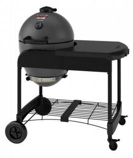 Char-Griller 6520 Akorn Kamado Kooker Charcoal Grill with Cart - Grey (Retail $347.00)