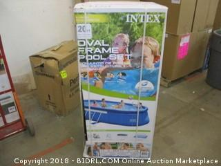 Intex Oval Frame Pool Set - 20 Ft