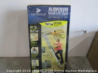 Louisville Aluminum Ceiling Mounted Folding Attic Ladder  Box is Sealed