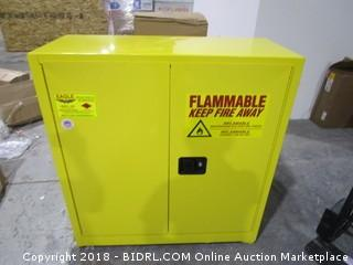 Flammable Keep Fire Away Cabinet with keys