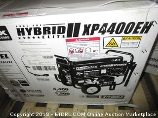 DuroMax XP4400EH, 3500 Running Watts/4400 Starting Watts, Dual Fuel Powered Portable Generator (Retail $499.00)