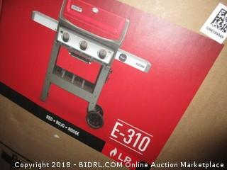 Weber 45030001 Spirit II E-310 Gas Grill LP Outdoor, Red (Retail $499.00)