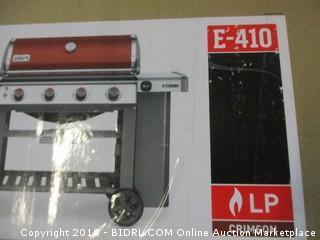 Weber 62030001 Genesis II E-410 Liquid Propane Grill, Crimson (Retail $899.00)