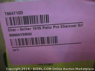 Char-Griller 1515 Patio Pro Charcoal Grill (Retail $72.00)