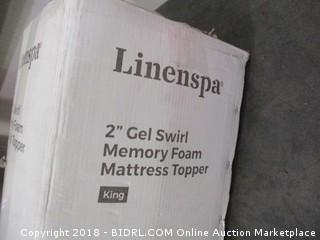Linenspa Gel Swirl Memory Foam Mattress Topper