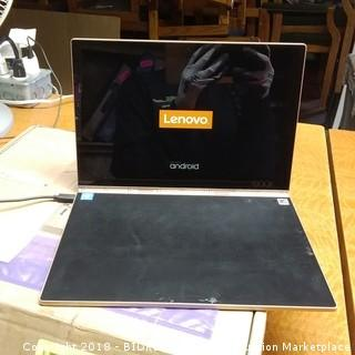 Lenovo Powers on, No Cords, Cracked Screen