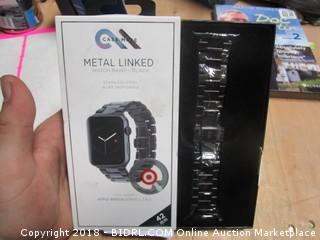 Metal Linked Watch Band
