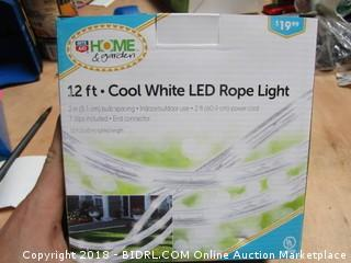 12ft Cool White LED Rope Light