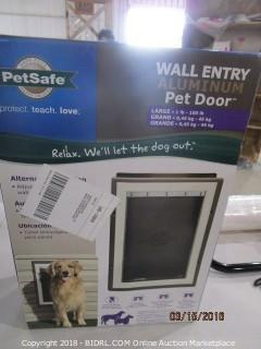 Wall Entry Aluminum Pet Door