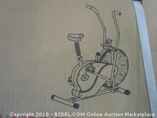 Body Rider Exercise Upright Fan Bike (with UPDATED Softer Seat) Stationary Fitness / Adjustable Seat (Retail $125.00)