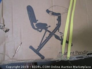 Exerpeutic WorkFit 1000 Fully Adjustable Desk Folding Exercise Bike with Pulse (Retail $229.00)