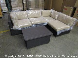 Outdoor Sectional with table