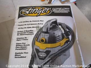 Stinger Vac Powers On