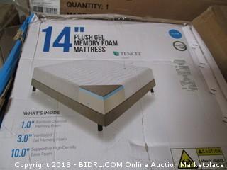 "14"" Plush Gel Memory Foam Mattress"