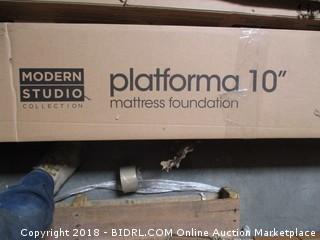 "Zinus Platform 10"" mattress foundation"