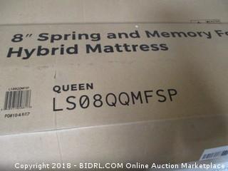 "Linen Spa 8"" Spring and Memory Foam Hybrid Mattress"