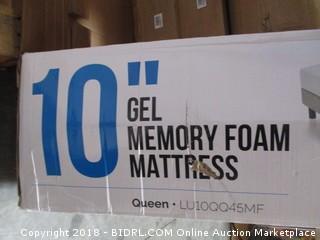 "Lucid 10"" Gel Memory Foam Mattress  Queen"