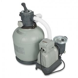 Intex Krystal Clear Sand Filter Pump for Above Ground Pools, 16-inch, 110-120V with GFCI (Retail $163.00)