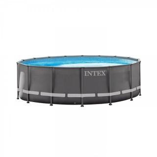 Intex 16Ft X 48In Ultra Frame Pool Set with Filter Pump, Ladder, Ground Cloth & Pool Cover (Retail $549.00)