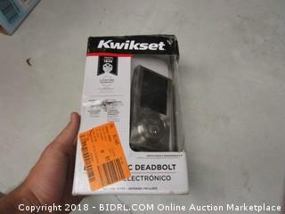 Kwiksets Electronic Deadbolt- No Key