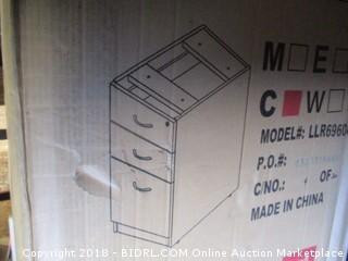 Lorell LLR69604 69000 Series Free Standing Fixed Pedestals, Cherry (Retail $144.00)