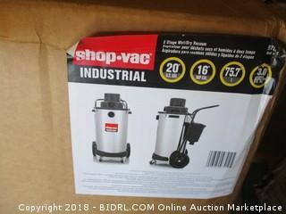 Shop-Vac 9700410 3.0-Peak Horsepower Industrial Stainless Steel Wet/Dry Vacuum, 20-Gallon (Retail $749.00)