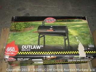 Char-Griller 2137 Outlaw 1063 Square Inch Charcoal Grill/Smoker (Retail $197.00)