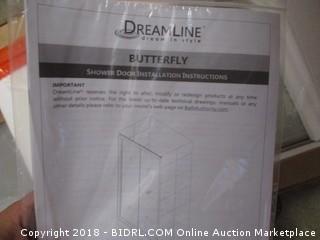 DreamLine Butterfly 34-35 1/2 in. W x 72 in. H Sliding Bi-Fold Shower Door in Chrome, SHDR-4536726-01 (Retail $470.00)