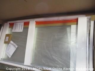 DreamLine Flex 56-60 in. W x 72 in. H Semi-Frameless Pivot Shower Door in Chrome, SHDR-22607200-01 (Retail $447.00)