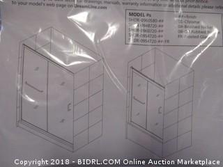 DreamLine Infinity-Z 50-54 in. W x 72 in. H Semi-Frameless Sliding Shower Door, Clear Glass in Oil Rubbed Bronze, SHDR-0954720-06 (Retail $459.00)